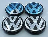 4 Tappi Coprimozzo 55 mm volkswagen VW Polo Golf iv V 5 VI 6 Passat Beetle UP Cerchi in Lega