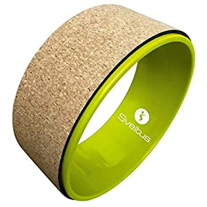 sveltus Yoga-Rad, Kork, Unisex, Erwachsene, Grün