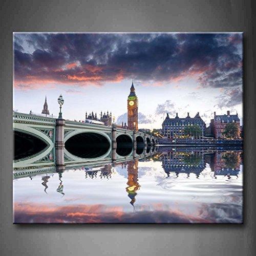 Dusk bei Westminster Bridge und Big Ben in London Art Wand Bilder...