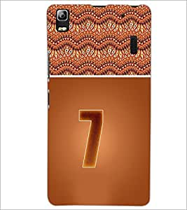 PrintDhaba Numerology Number 7 D-3639 Back Case Cover for LENOVO A7000 (Multi-Coloured)