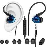 ROVKING Sportkopfhörer zum Lauf Sport, Flexible über dem Ohr Kopfhörer zum Schlaf mit Lautstärkeregelung Mikrofon - Blau