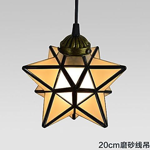 LYNDM soffitto luce stelle Home Ciondolo lampada illuminazione lampadario per camera da letto sala 20cm macchia Lampadario in linea