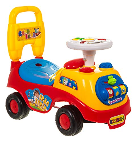 FiNeWaY@ MY FIRST RIDE ON KIDS TOY CARS BOYS GIRLS PUSH ALONG TODDLERS INFANTS CHILDREN (Red)