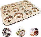 Silikonform, Inspiration Maxi Muffinform für 12 Muffins,Antihaftbeschichtet, kuchenform Cupcakes, Brownies, Kuchen, Pudding Kurze Backzeit für süße und herzhafte Rezepte