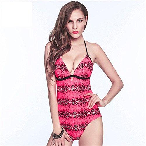 AMYMGLL Women 's Bikini Körper Badeanzug Europa und den Vereinigten Staaten Strand Badeanzug Hot Spring Resort Badeanzug hohe Elastizität Umweltschutz coffee red