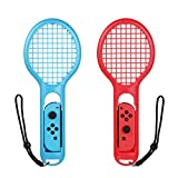 Bestico Tennisschl�ger f�r Nintendo Switch Joy-Con Controllers, 2 St�ck Tennis Racket f�r Mario Tennis Aces,ARMS and Motion Sensing Spiele medium image