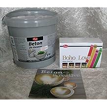 Set Viva Decor Beton 5kg für Kreative + Maya Gold Set Boho Love 4 Farben für Lichtkugel Leuchtkugel Betonschalen