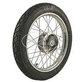 Komplettrad - HINTEN - 1,5x16 Zoll, Stahl verchromt, mit VeeRubber-Reifen VRM094 fertig montiert (RADNABE: Graugussbremsring (GG), abgedrehte