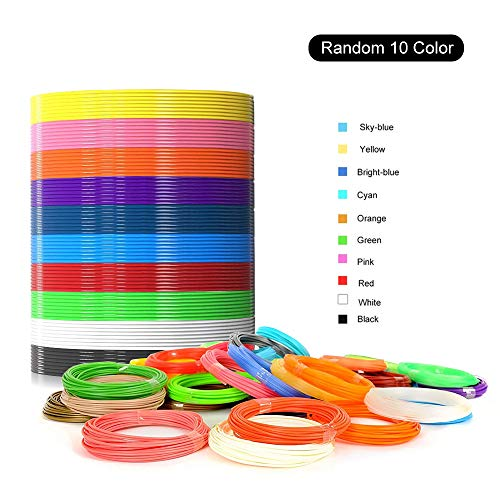 1.75mm PLA Filament,3D Pen Refills,10 Colors,16 Ft/5M Each,Total 164 F