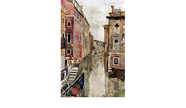 JP London Mural Venice Watercolor at 2 Wide by 3 feet high SPMUR0061 Fully Removable Peel and Stick Wall Art
