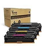 V4INK 4 Pack Toner kompatibel zu HP Laserjet Pro CM1312 CP1215 CP1525n CP1525nw LBP5050 M251n M251nw M251MFP HP CF210X 211A 212A 213A CB540A 541A 542A 543A CE320A 321A 322A 323A Canon CRG-131H Serien