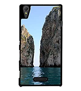 Dual Rock in Sea 2D Hard Polycarbonate Designer Back Case Cover for Sony Xperia T3