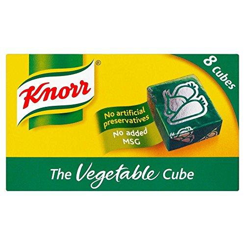 Knorr - Bouillon de légumes - 8 cubes - lot de 4 boîtes de 80 g