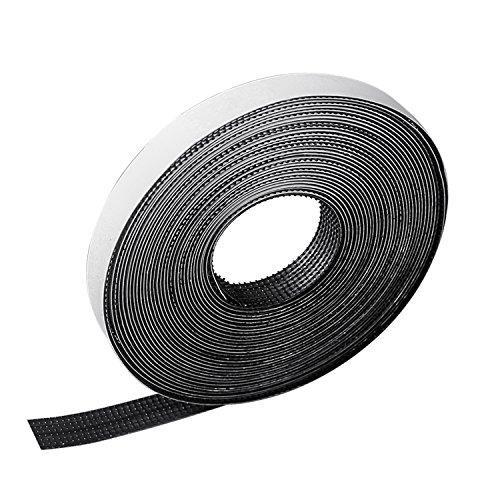 Nastro adesivo in velcro rabbitgoo autoadesivo nastro adesivo nero 1cm x 560 cm extra forte adatto per zanzariera, lavori di casa, fai da te