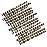 COMEYOU 15 Stücke 3,8mm Dia Bohrer HSS Cobalt Metric Spiral Spiralbohrer Drehwerkzeug