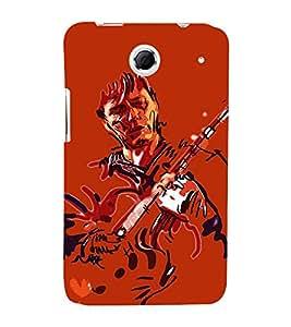 Fiobs Designer Phone Back Case Cover LenovoS880 ( Guitar Guy )