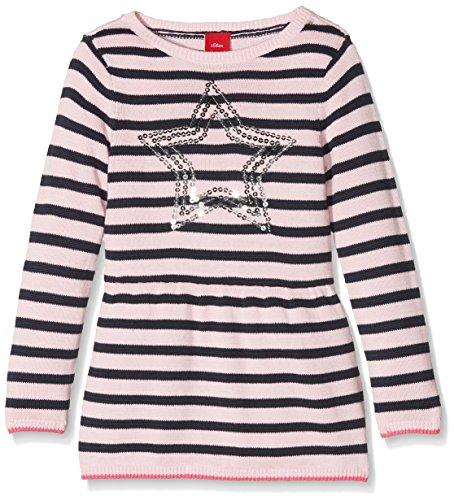 s.Oliver Mädchen Kleid 58.711.82.2753, Rosa (Light Pink Stripes 41G4), 92 (Rosa Kleid Gestreifte)