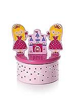 Carillon fatto a mano rosa con principessa con parte superiore con principessa carina e castello. Ruota la scatola e vedrai la parte superiore iniziare a girare mentre suona la musica When You Wish Upon A Star. Un regalo davvero grazioso per ...