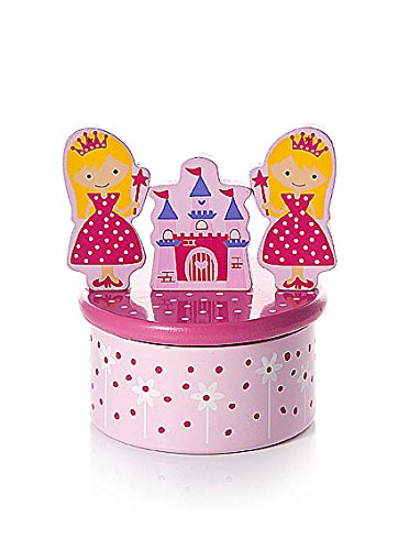 Mousehouse Gifts Baby oder Kinder Rosa Prinzessinnen Spieluhr Spieldose Holz Rosa Prinzessinnen Geschenk