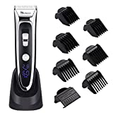 SURKER Profi Haarschneide Set Haarschneider Für Herren Haarschneidemaschine Haircut Set mit 7 Aufsätzen All in One Lithium Wiederaufladbare Trimmer Haarrasierer mit LED-Display