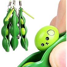 Logobeing Juguetes Bebe Squeeze Frijol Alivio del Estrés Fidget Bean Squishies Juguetes Llavero Mejorar Focus Toy