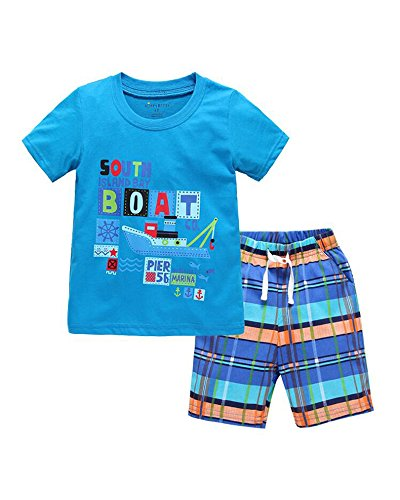 Yilaku Little Boys Outfits and Clothing Sets T-Shirts & Shorts 2-6 Years