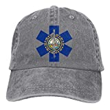 Voxpkrs Flag of New Hampshire EMT Unisex Baseball Cap Cowboy Hat Dad Hats Trucker Hat ABCDE09574