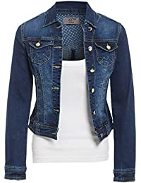 SS7 Womens Size 14 16 18 20 Stretch Denim Jacket Ladies Indigo Jean Jackets Blue