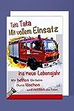 AvanCarte GmbH Feuerwehr Geburtstag Karte Grußkarte Löschzug Retter Foliendruck 16x11cm