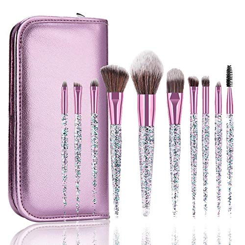 love+djl Make-Up Pinsel 10 Strass Kristall Make-Up Pinsel Set Foundation Pinsel Gemischt Concealer Make-Up Pinsel Set @ Brush_with_Case -