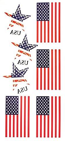 GGSELL Vereinigte Staaten von Amerika (USA) Flagge temporäre Tattoos