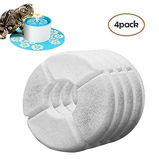 FOONEE filtres Compatible avec Catit Fleur Plume-Lot de 4pour Animal Domestique Fontaine à Eau de Remplacement de filtres hautement performant pour Chiens ou Chats