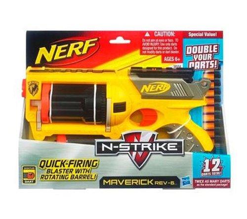 Hasbro Nerf - Pistola Maverick Con 6 Dardos De Regalo 27-38554