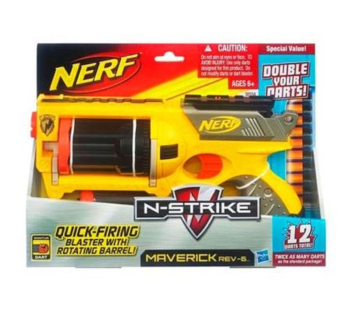 Hasbro 385541480 - Nerf Maverick Pistola spara freccette