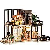 Casa De Muñecas, Miniatura De La Casa De Muñecas De Madera DIY Dollhouse Con Muebles Con Luz LED Por 332PageAnn