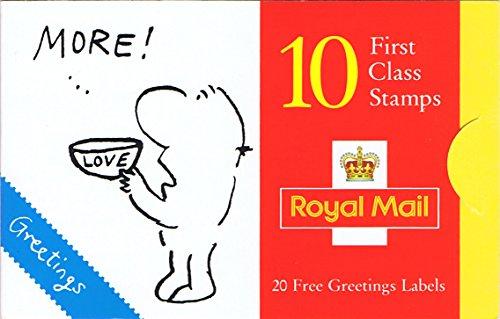 1996Francobolli AUGURI: Vignette libretto con 10x 1st Class e 20etichette-Francobolli Royal Mail - Greet Scheda