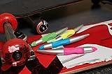 STABILO EASYoriginal metallic inkl. 1 Nachfüllpatrone - ergonomischer Tintenroller für Rechtshänder - Schreibfarbe blau (löschbar) - Einzelstift neongrün/metallic -