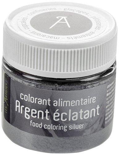 Les artistes - paris a-0418 - colorante alimentare da superficie, argento iridato