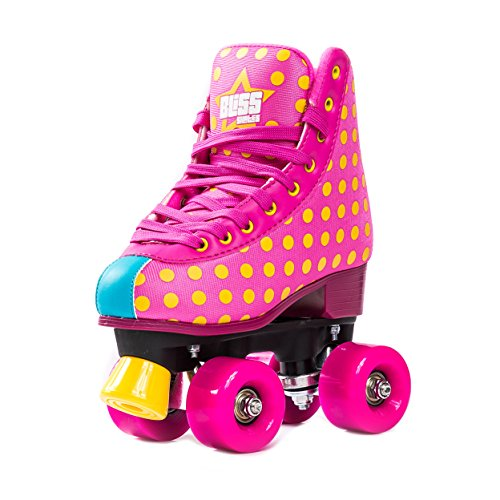 Bliss Rollerskates Mädchen Rollschuhe Damen - Indoor Outdoor Roller Skates Größe 33-40 Rollschuh Rockstar Edition (41)