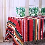 YZEO 2Pack Mexikanischen Tischdecken 144,8x 259,1cm (145x 260cm) Mexiko Stil Streifen Teppiche Yoga Matten speziellen Komfortablen Tischdecken