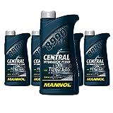 5 x 500ml MANNOL 8990 Central Hydraulic Fluid / CHF11S Hydraulik- Servo- Öl Grün