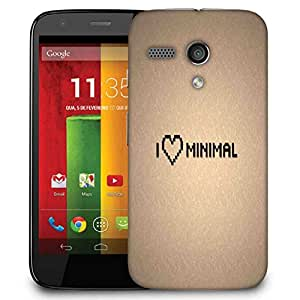 Snoogg I Love Minimal Designer Protective Phone Back Case Cover For Motorola G / Moto G