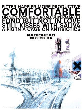 Reproduction imprimée Radiohead - Ok Computer Music Poster - 30