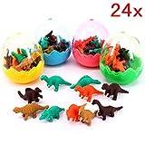 JZK 24 Huevos dinosaurio con poca goma juguete dinosaurio mini borrar borrador lápiz juguete para...