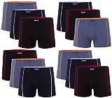 12 Herren Elastan -Baumwoll Boxershort, Modell: 12 STK Set 01, Größe: L-6