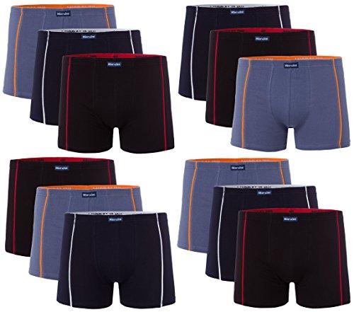12 Herren Elastan -Baumwoll Boxershort, Modell: 12 STK Set 01, Größe: L-6 (Jungen Unterwäsche Größe 6)