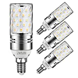 Yiizon LED Mais Glühbirne, E14, 12W, entspricht 100 W Glühlampe, 3000 K Warmweiß, 1200lm, CRI>80 +, kleine Edison-Schraube, nicht dimmbar Kandelaber LED Glühlampen(4 PCS)