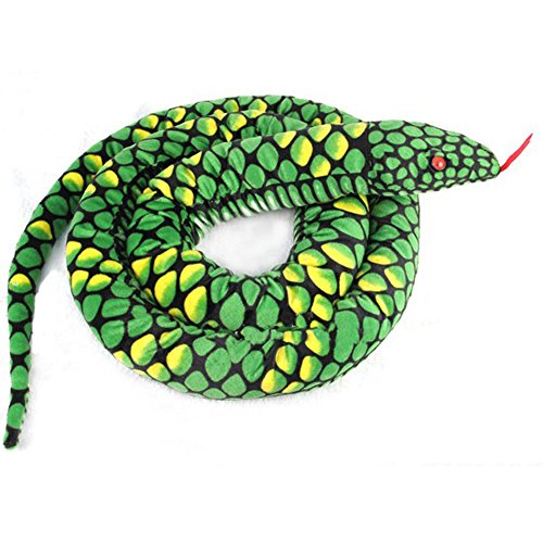 Lazada Realistische gefüllte Python Dolls Plüsch Schlange Spielzeug über 5,5 Füße Grün