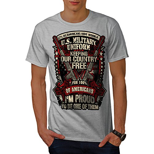 Wellcoda USA Militär Armee Amerika Männer S T-Shirt (T-stücke Militär-grafische)