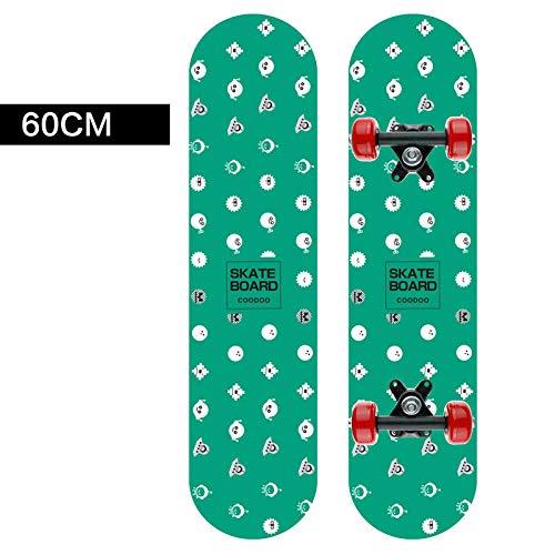WxhPgh Kinder Allrad Skateboard Doppelwippe Jugend 60cm Brush Street, H_60cm
